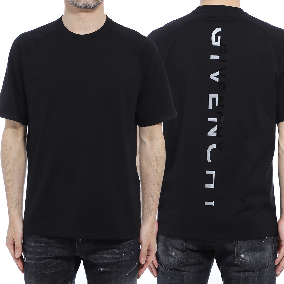 ジバンシー GIVENCHY クルーネックTシャツ ブラック メンズ bm70ue3002 001 SPLIT PRINT SLIM FIT T-SHIRT【あす楽対応_関東】【返品送料無料】【ラッピング無料】