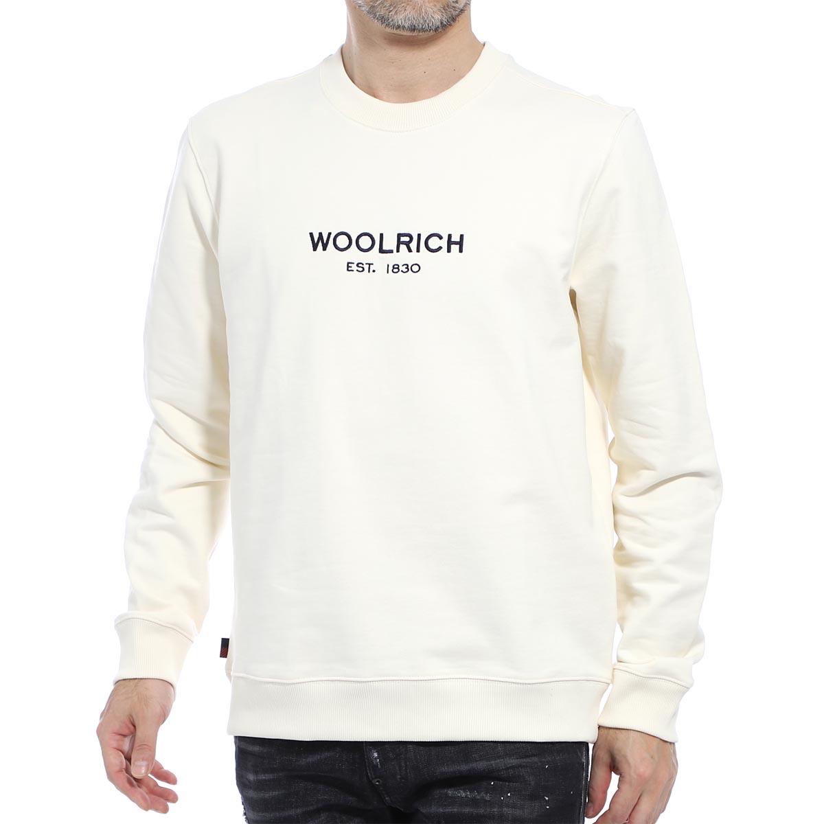 ウールリッチ WOOLRICH スウェットシャツ ホワイト メンズ cfwosw0048mr ut2127 8929 LUXURY LIGHT CREW NECK【あす楽対応_関東】【返品送料無料】【ラッピング無料】