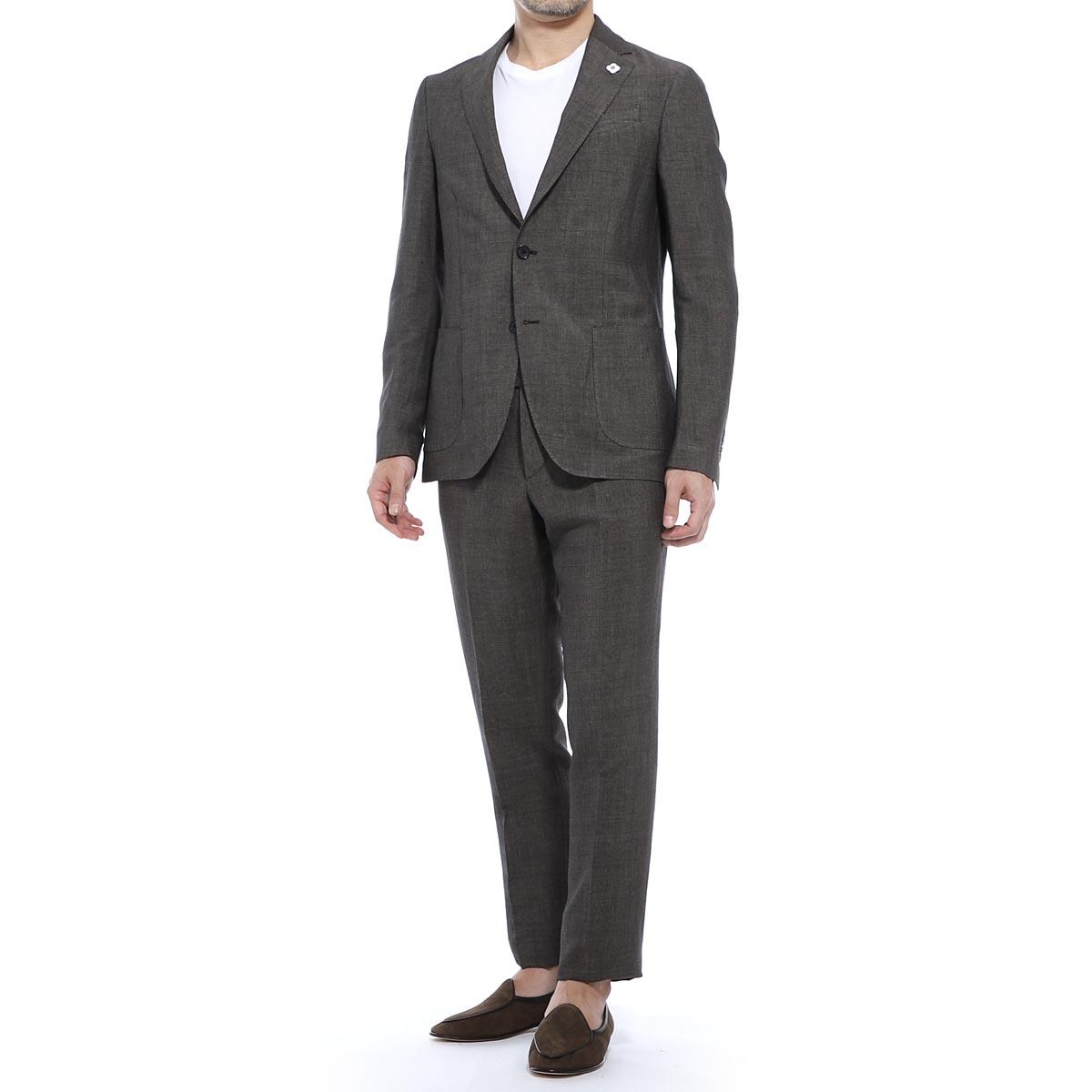 ラルディーニ LARDINI 2つボタンスーツ ブラウン メンズ 大きいサイズあり ei077av eia54423 601 EASY ITALIAN FIT【あす楽対応_関東】【返品送料無料】
