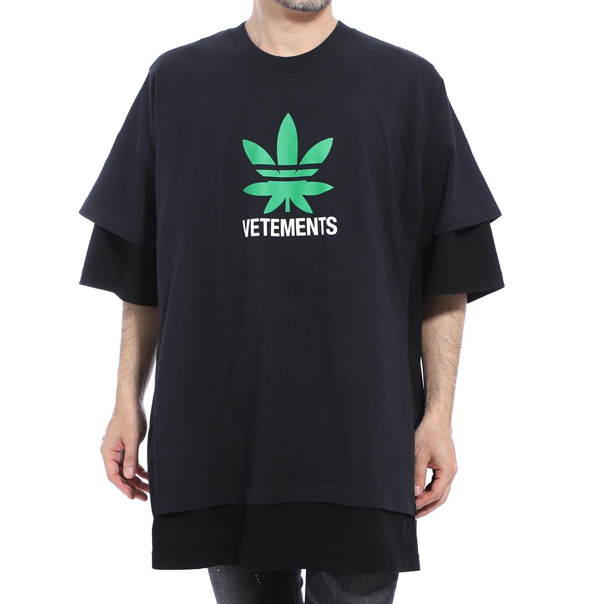 ヴェトモン VETEMENTS クルーネックTシャツ ブラック メンズ tr215 black black DOUBLE T-SHIRT MARIA【あす楽対応_関東】【返品送料無料】【ラッピング無料】