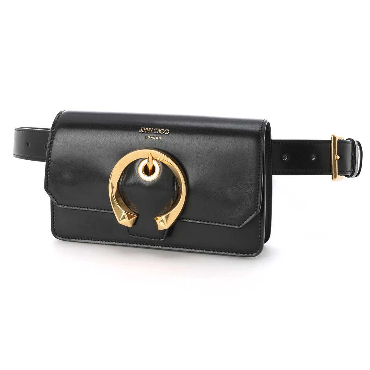 ジミーチュウ JIMMY CHOO ベルトバッグ ボディバッグ ブラック レディース レザー madeline beltbag trm black MADELINE マドライン【あす楽対応_関東】【返品送料無料】【ラッピング無料】