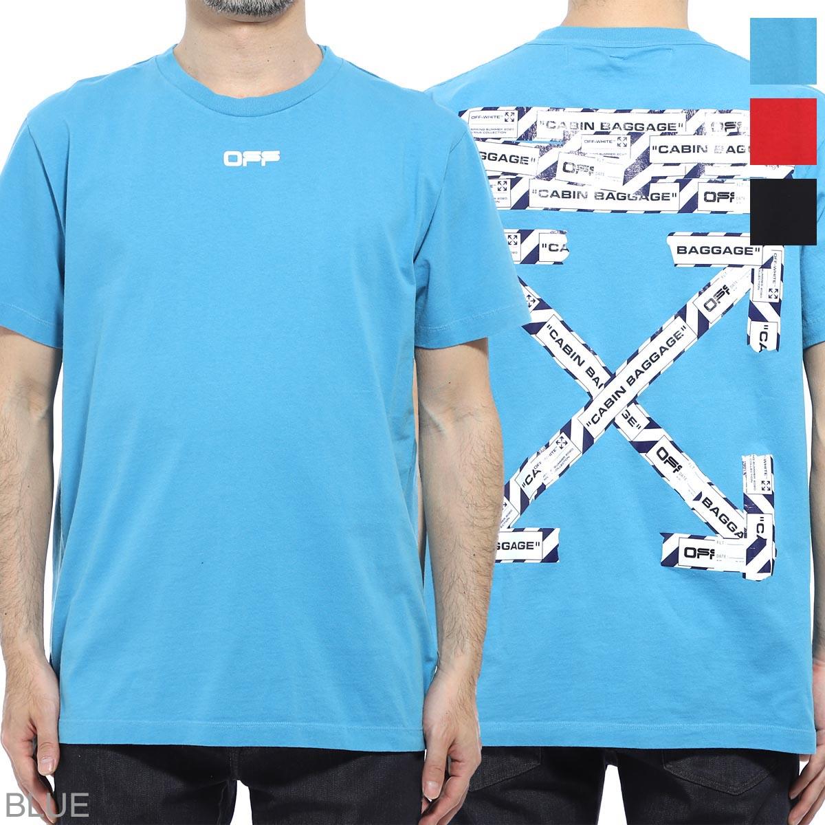オフホワイト Off-White クルーネックTシャツ メンズ omaa027s20185003 3088 AIRPORT TAPE S/S SLIM TEE【あす楽対応_関東】【返品送料無料】【ラッピング無料】