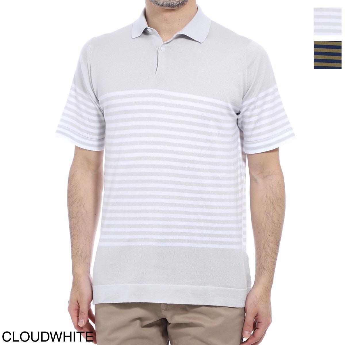 ジョンスメドレー JOHN SMEDLEY ポロシャツ メンズ rill cloud white RILL リル 30ゲージ【あす楽対応_関東】【返品送料無料】【ラッピング無料】
