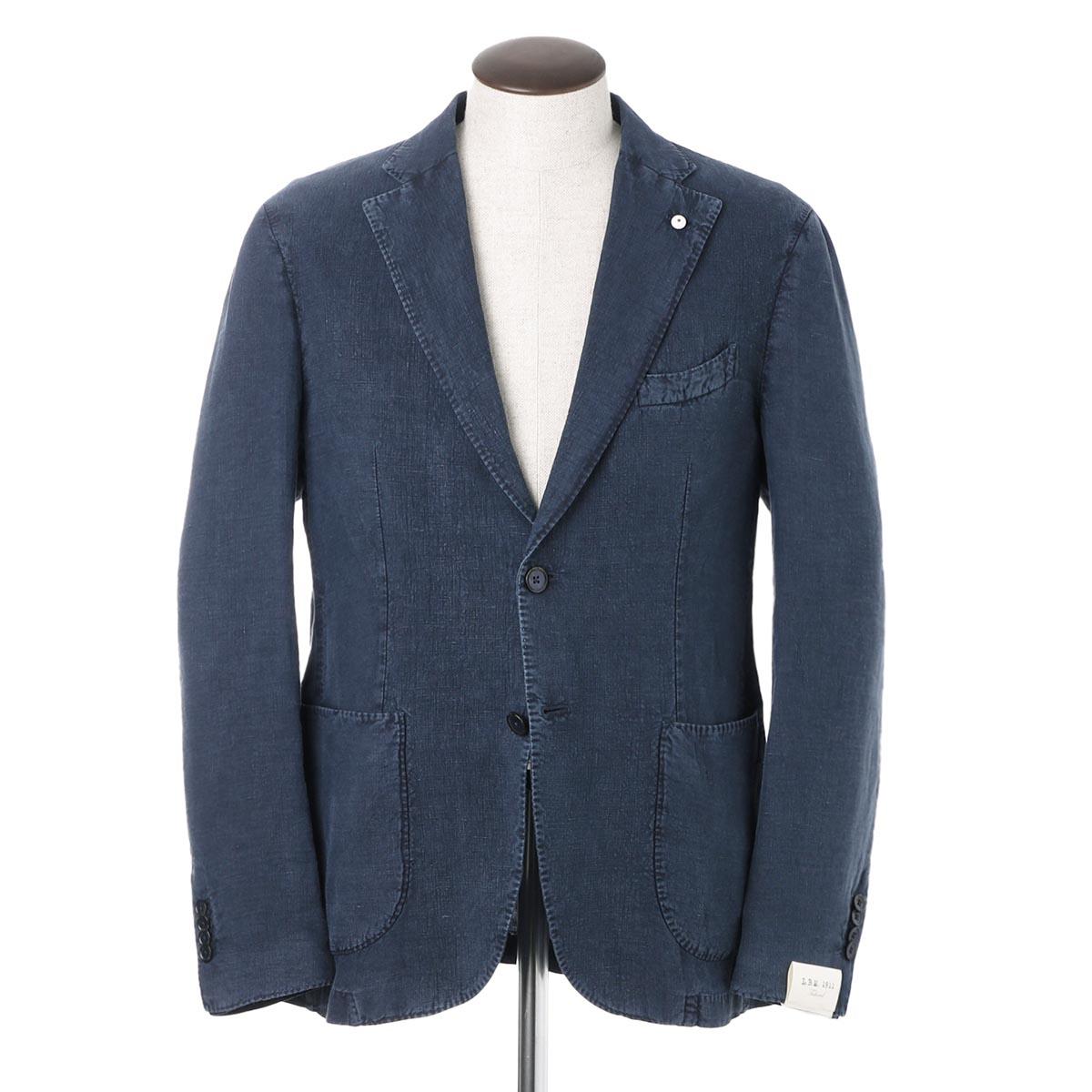 エルビーエム1911 LBM1911 2つボタン リネン ジャケット ブルー メンズ 大きいサイズあり 2837 05832 6 JACK REGULAR【あす楽対応_関東】【返品送料無料】【ラッピング無料】