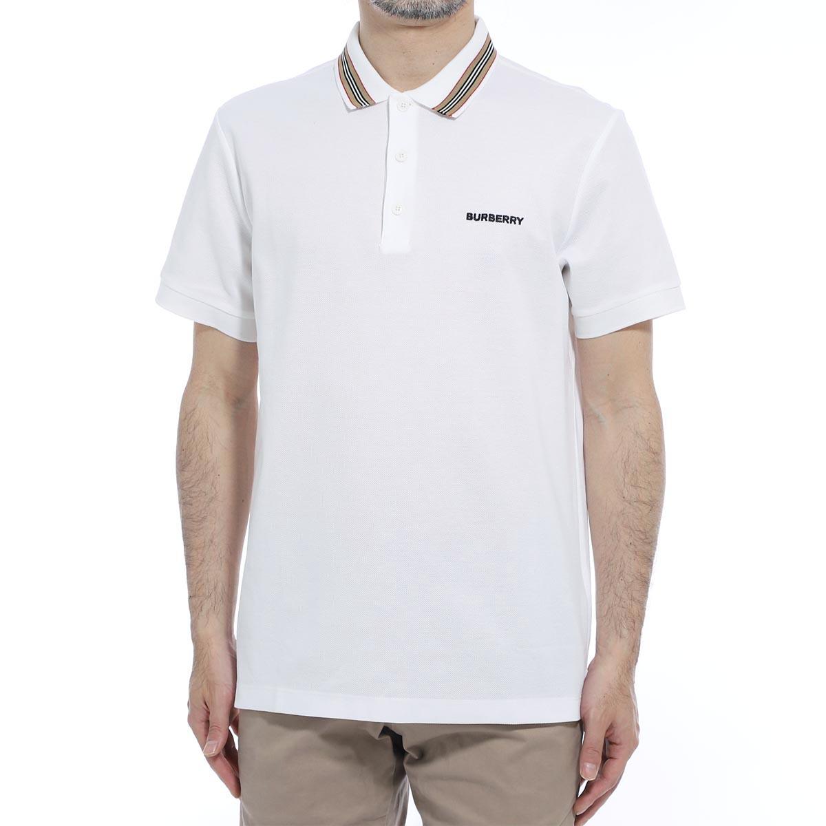 バーバリー BURBERRY ポロシャツ ホワイト メンズ 8009280 white JOHNSTON ジョンストン【あす楽対応_関東】【返品送料無料】【ラッピング無料】