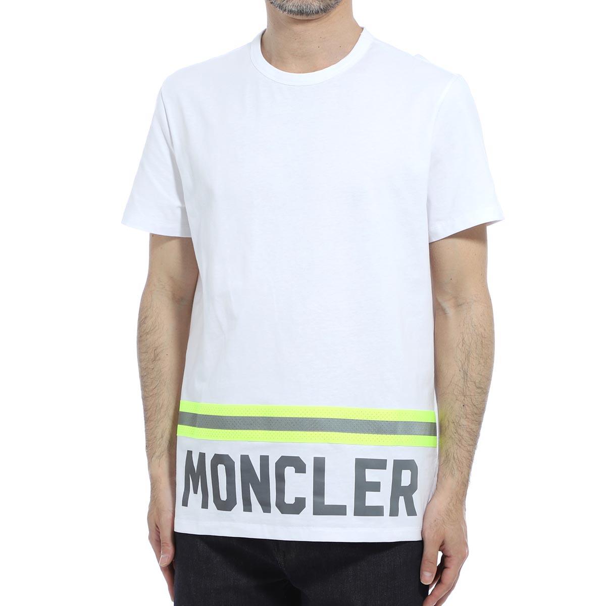 モンクレール MONCLER クルーネックTシャツ ホワイト メンズ 8c73920 8390t 001【あす楽対応_関東】【返品送料無料】【ラッピング無料】
