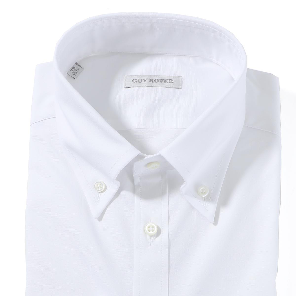 ギローバー GUY ROVER ボタンダウンシャツ ホワイト メンズ 2850v1940 501250 01【あす楽対応_関東】【返品送料無料】【ラッピング無料】
