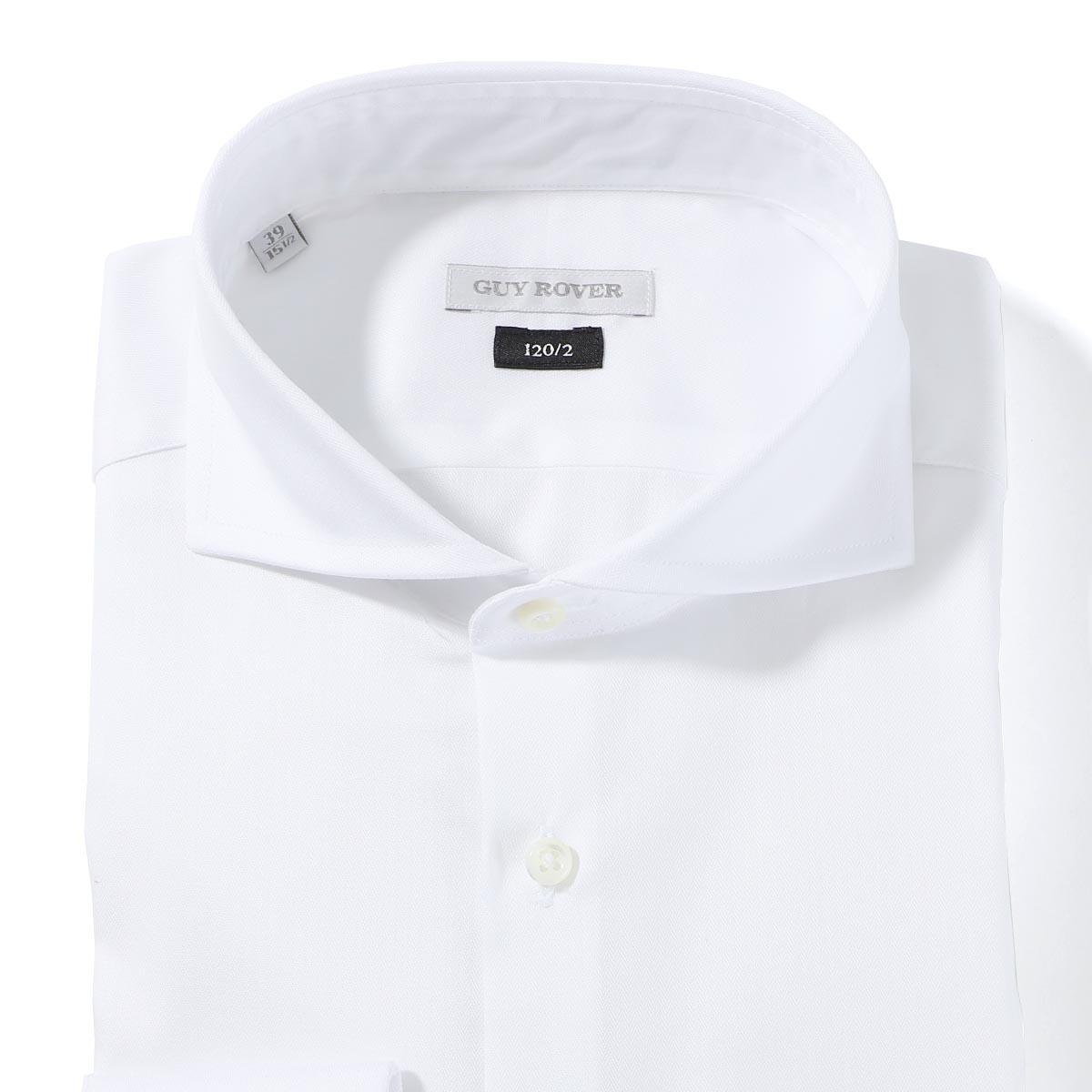 ギローバー GUY ROVER ホリゾンタルカラー シャツ ホワイト メンズ 2850v2110 501920 03【あす楽対応_関東】【返品送料無料】【ラッピング無料】
