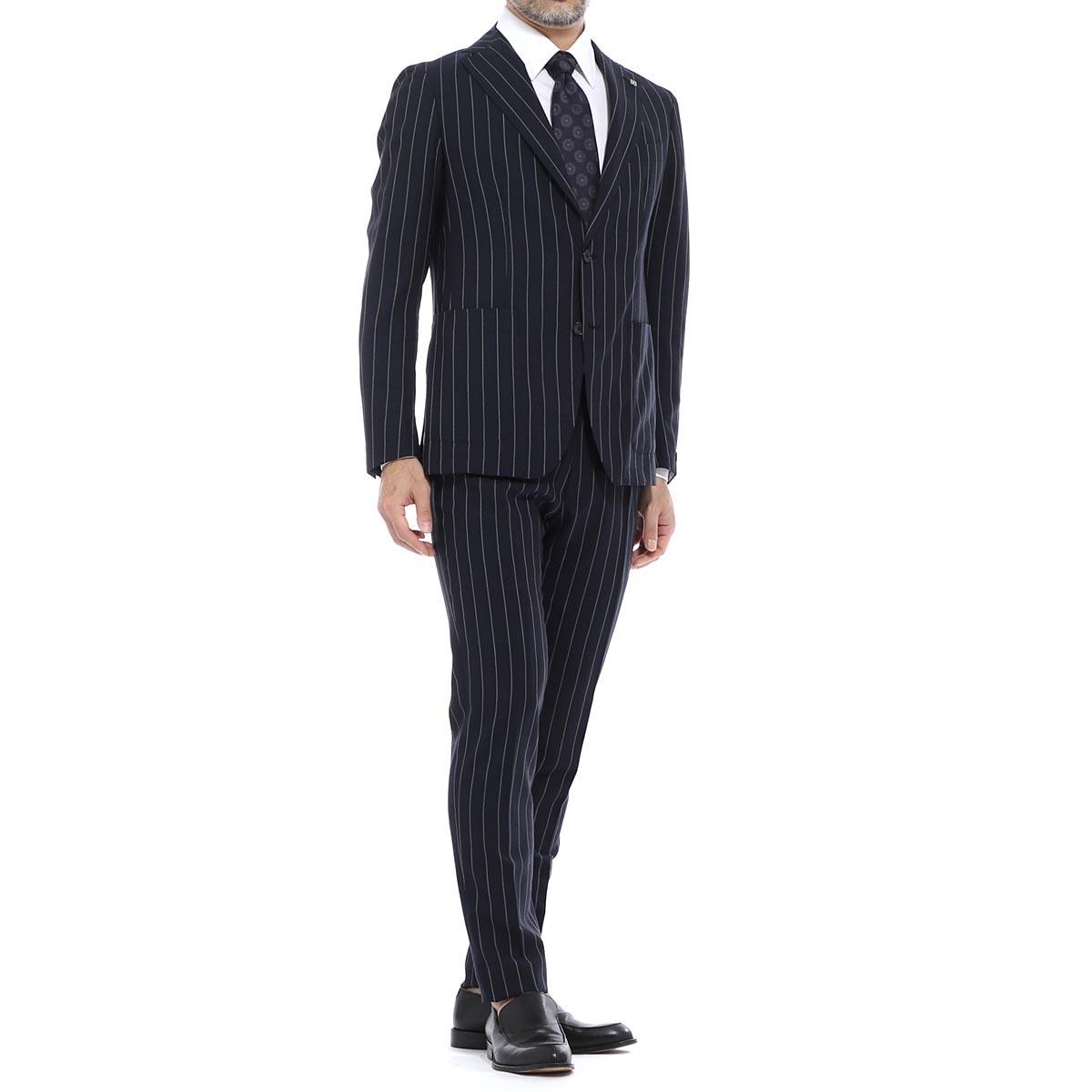 タリアトーレ TAGLIATORE 2つボタン スーツ ブルー メンズ 大きいサイズあり a dakar22k11 12rez334 b1386 DAKER ダカール【あす楽対応_関東】【返品送料無料】