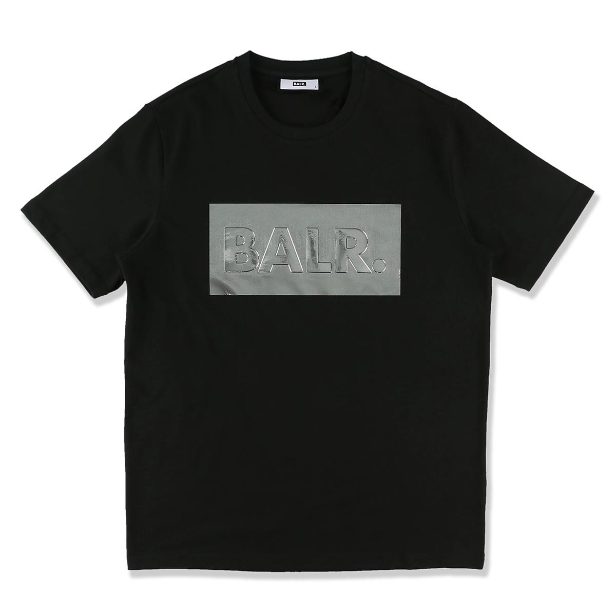 ボーラ― BALR. クルーネックTシャツ ブラック メンズ silver club straight tshirt black SILVER CLUB STRAIGHT T-SHIRT【あす楽対応_関東】【返品送料無料】【ラッピング無料】