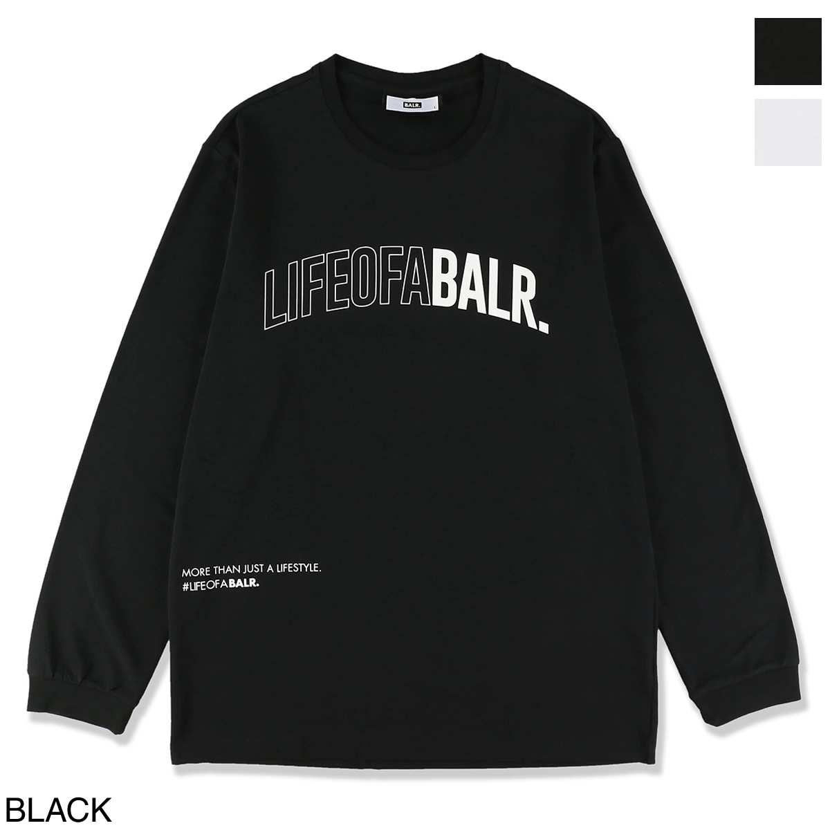 ボーラ― BALR. クルーネック長袖Tシャツ メンズ loab lifestyle straight tshirt l s black LOAB LIFESTYLE STRAIGHT T-SHIRT L/S【あす楽対応_関東】【返品送料無料】【ラッピング無料】