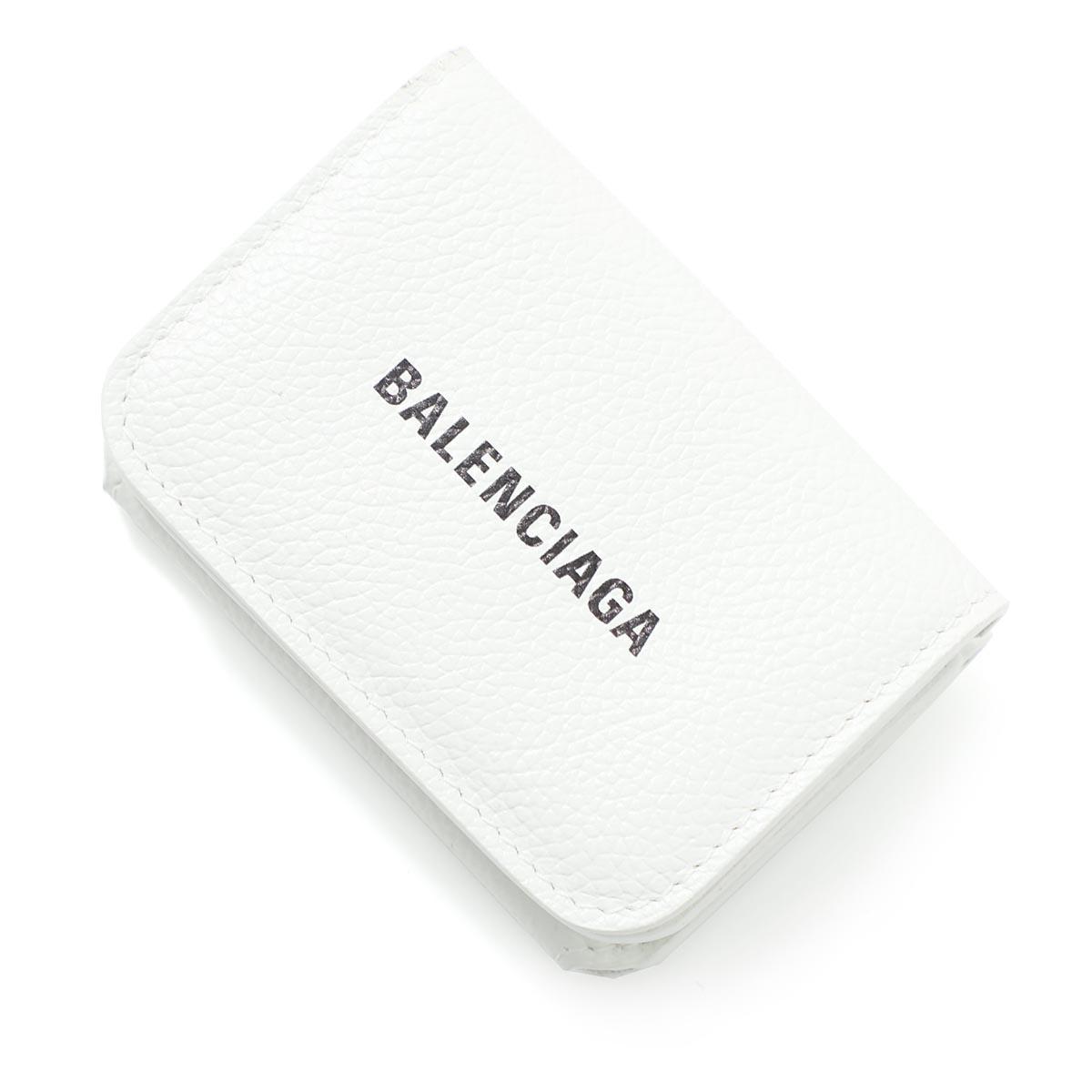 バレンシアガ BALENCIAGA 3つ折り財布 小銭入れ付き ホワイト レディース 593813 1izi3 9060【あす楽対応_関東】【返品送料無料】【ラッピング無料】