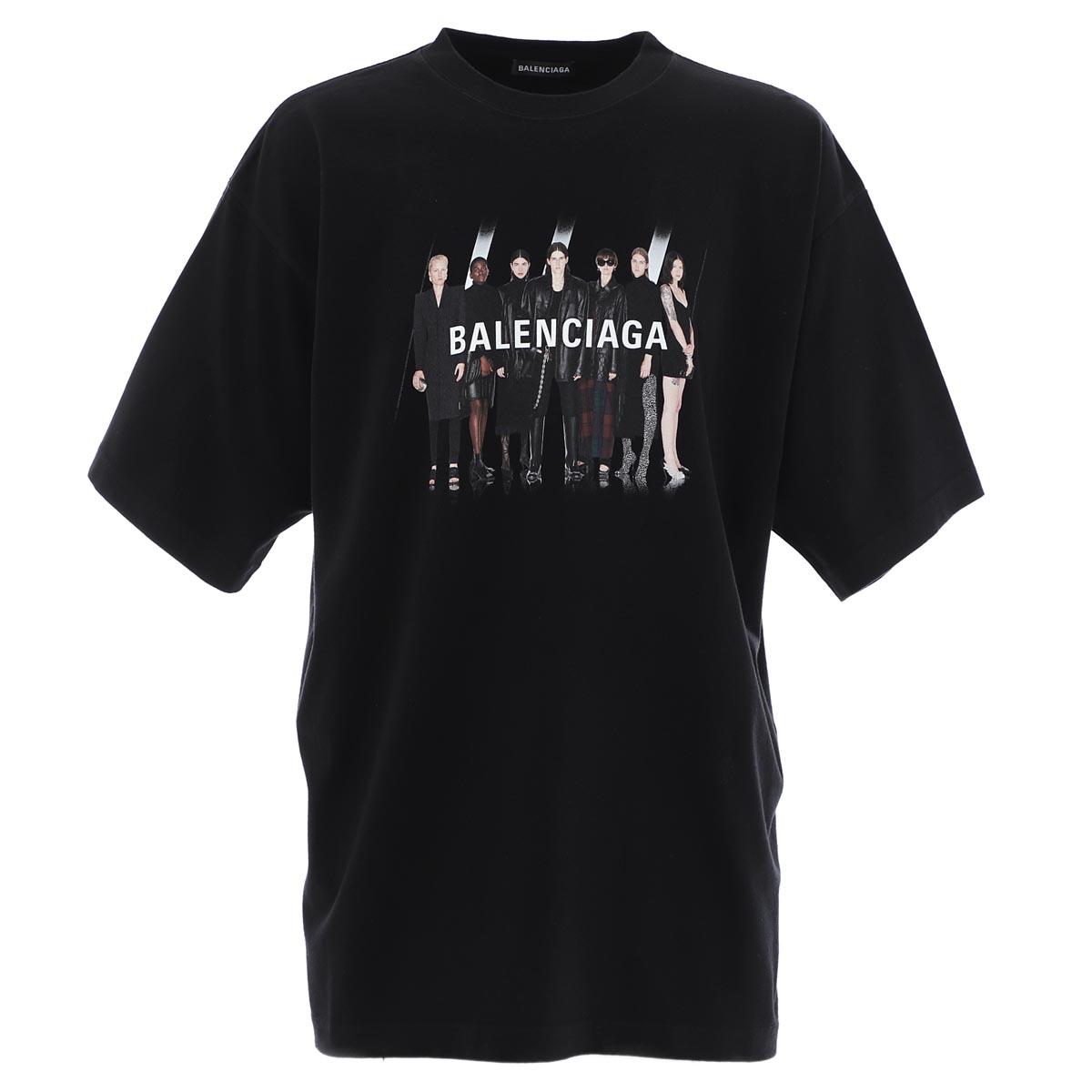 バレンシアガ BALENCIAGA クルーネックTシャツ ブラック メンズ 620969 tiva1 1000 Real Balenciaga 2 Large Fit T-shirt【あす楽対応_関東】【返品送料無料】【ラッピング無料】
