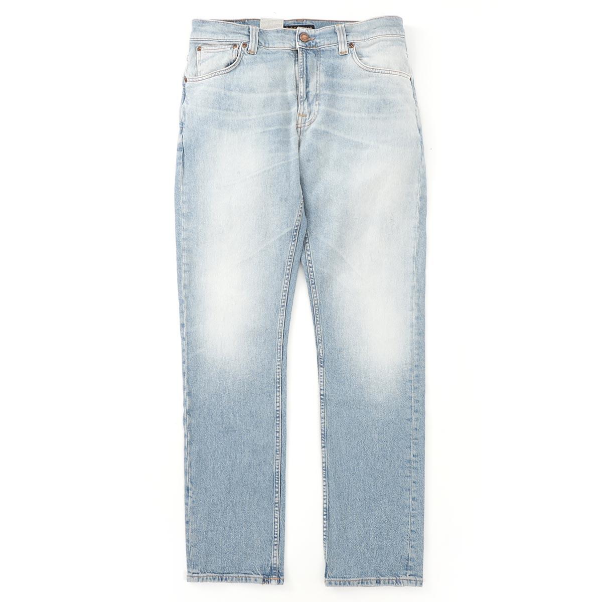 ヌーディージーンズ nudie jeans co ジップフライ ジーンズ ブルー メンズ lean dean 113280 Lean Dean レングス32【あす楽対応_関東】【返品送料無料】【ラッピング無料】