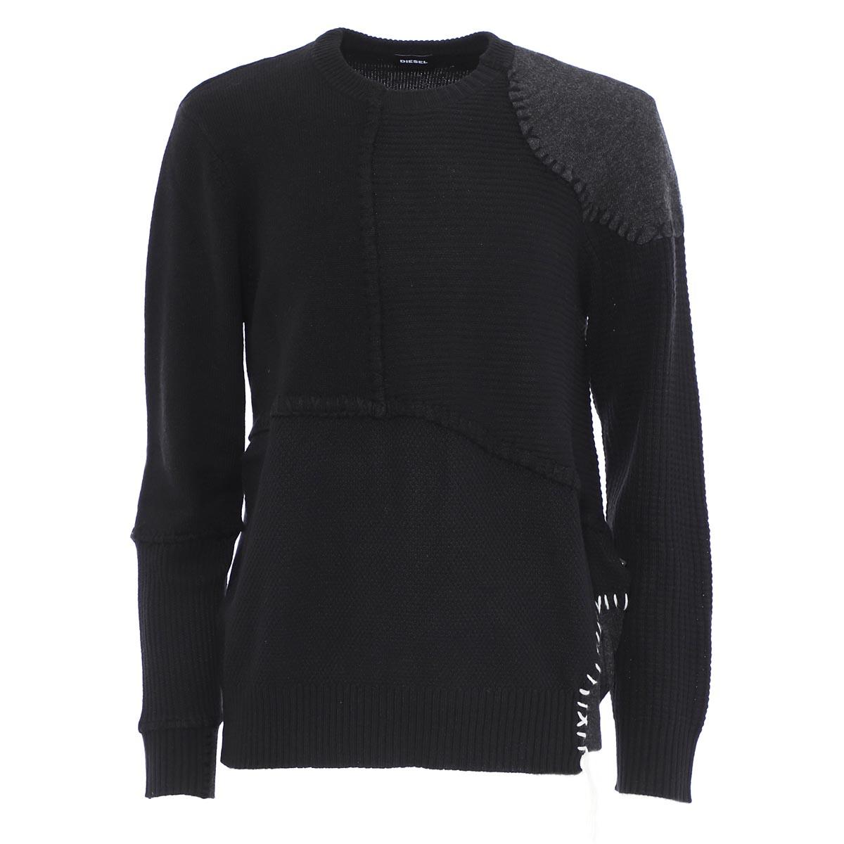 ディーゼル DIESEL クルーネック セーター ブラック メンズ k frank 00siuu 0lasr 900 K-FRANK【あす楽対応_関東】【返品送料無料】【ラッピング無料】