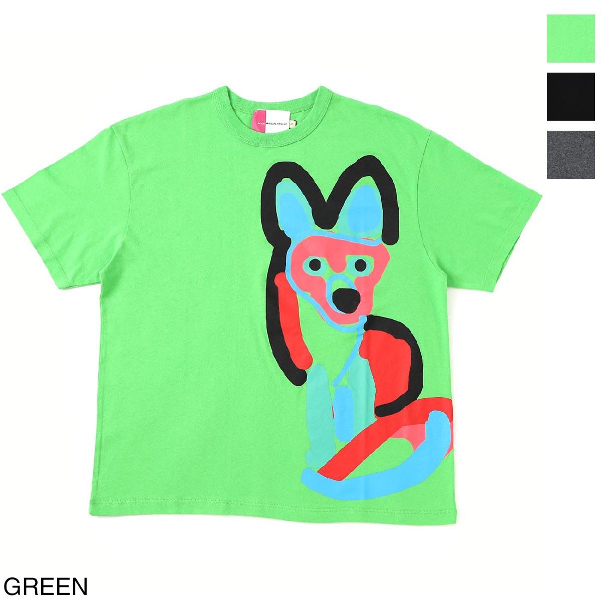 メゾンキツネ MAISON KITSUNE クルーネックTシャツ メンズ レディース eu00172kj0050 gn ACIDE【あす楽対応_関東】【返品送料無料】【ラッピング無料】