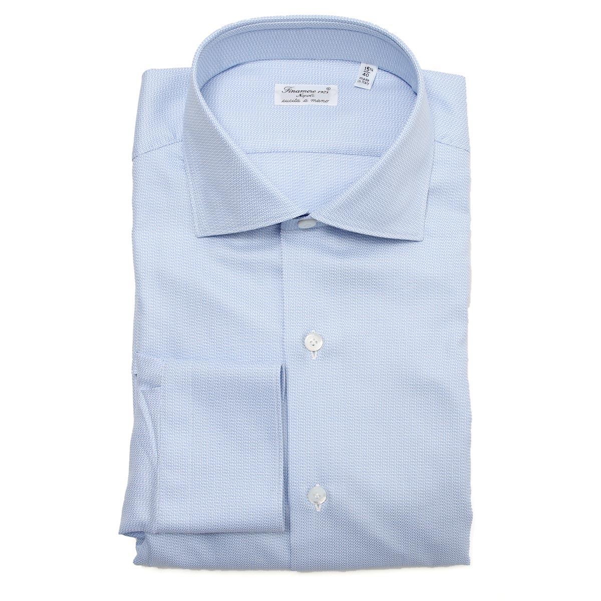フィナモレ FINAMORE ワイドカラーシャツ ブルー メンズ zante z 840566 c0277 1 ZANTE MILANO【あす楽対応_関東】【返品送料無料】【ラッピング無料】