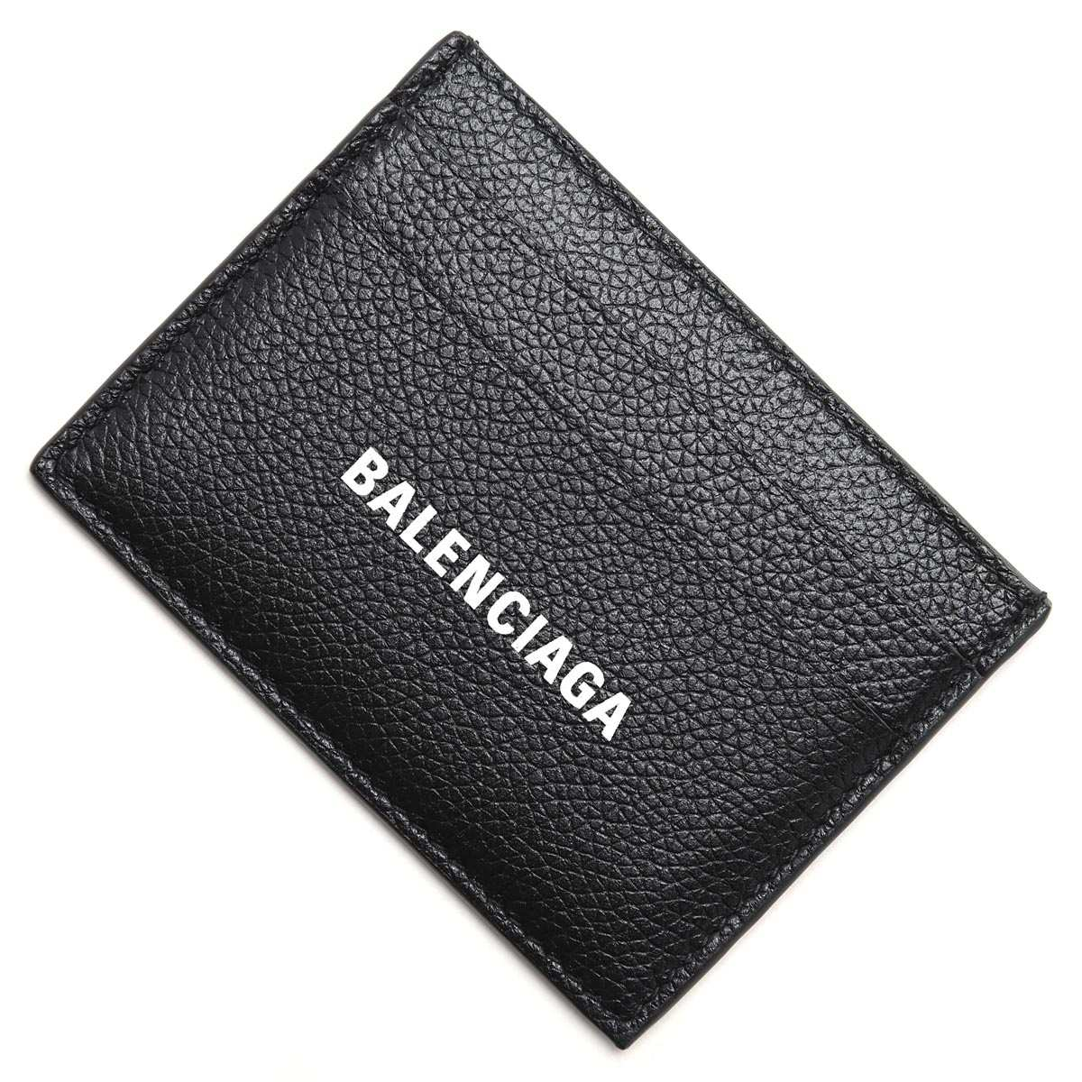 送料無料 バレンシアガ BALENCIAGA カードケース LOGO PRINTED CARDHOLDER 高価値 ブラック あす楽対応_関東 メンズ ラッピング無料 1izi3 期間限定の激安セール 1090 594309 返品送料無料