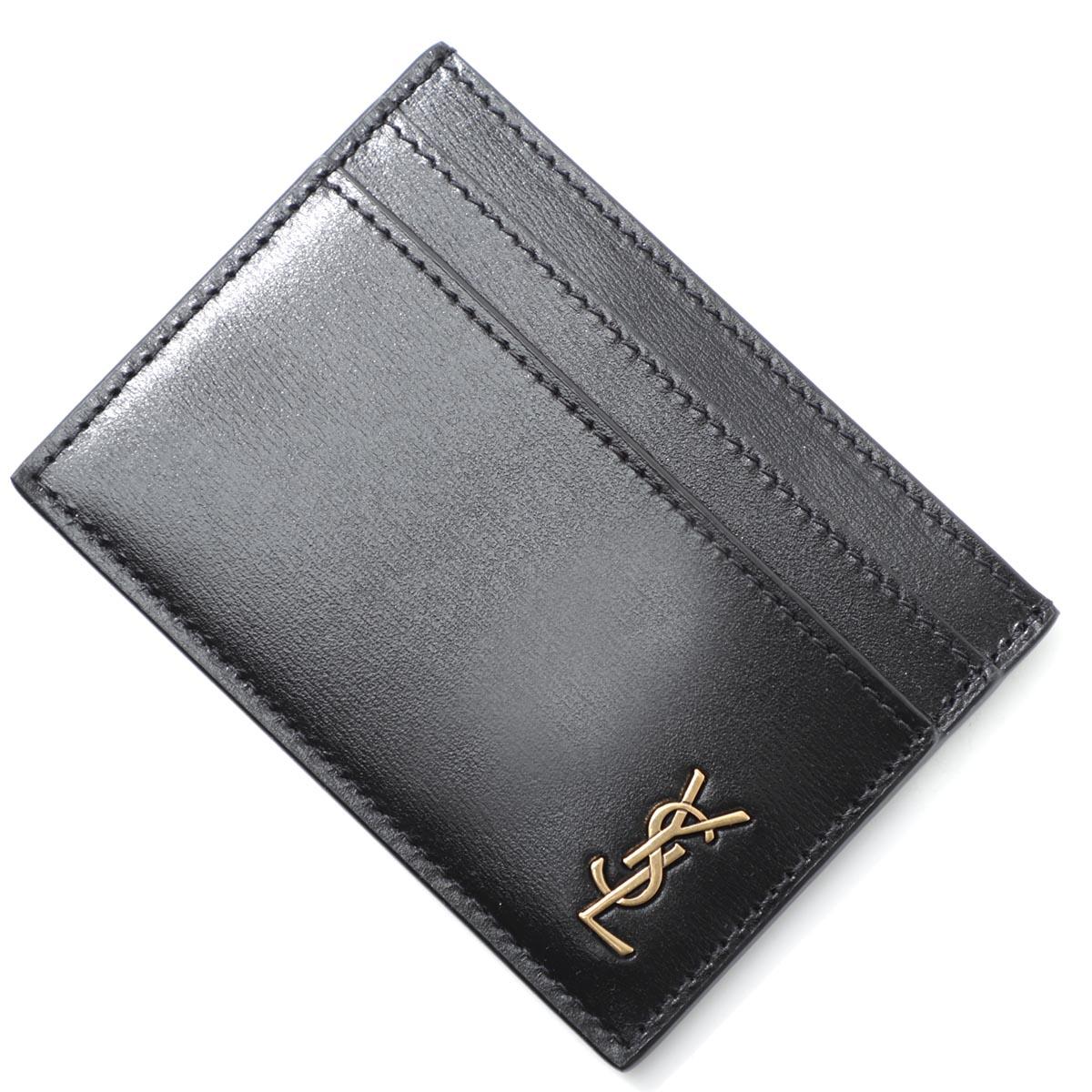 送料無料 贈答 サンローラン SAINT LAURENT カードケース TINY MONOGRAM 在庫一掃 CARD CASE 02g0w 返品送料無料 メンズ 607603 ブラック 1000 ラッピング無料 あす楽対応_関東