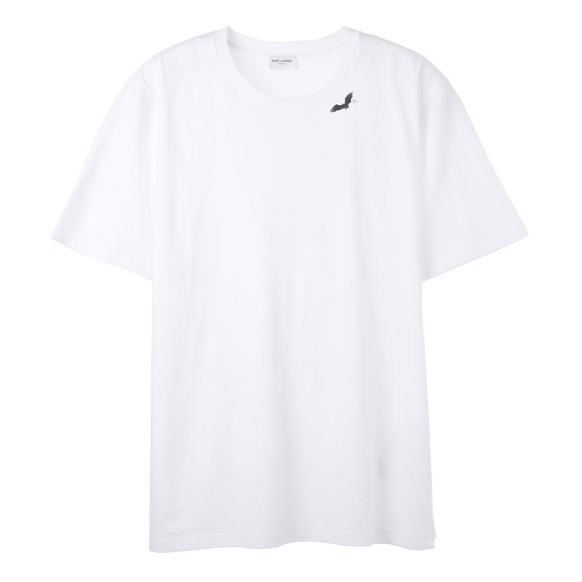 新品未使用正規品 14 返品不可 800円均一 送料無料 サンローラン SAINT LAURENT クルーネック Tシャツ ybjx2 579045 ラッピング無料 9744 ホワイト メンズ あす楽対応_関東 返品送料無料
