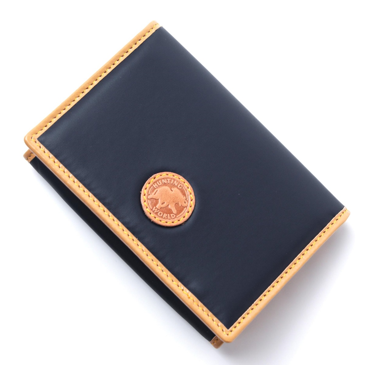 ハンティングワールド HUNTING WORLD カードケース 名刺入れ IDポケット付き ブルー メンズ BATTUE ORIGIN【ラッピング無料】【返品送料無料】【180703】【あす楽対応_関東】