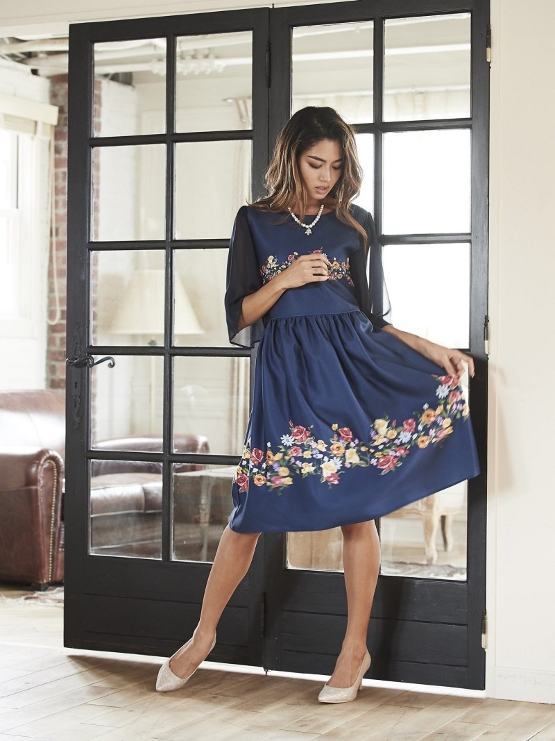 [Rakuten BRAND AVENUE]noranoel line flowerワンピース[DRESS/ドレス] Million Carats ミリオンカラッツ ワンピース【送料無料】