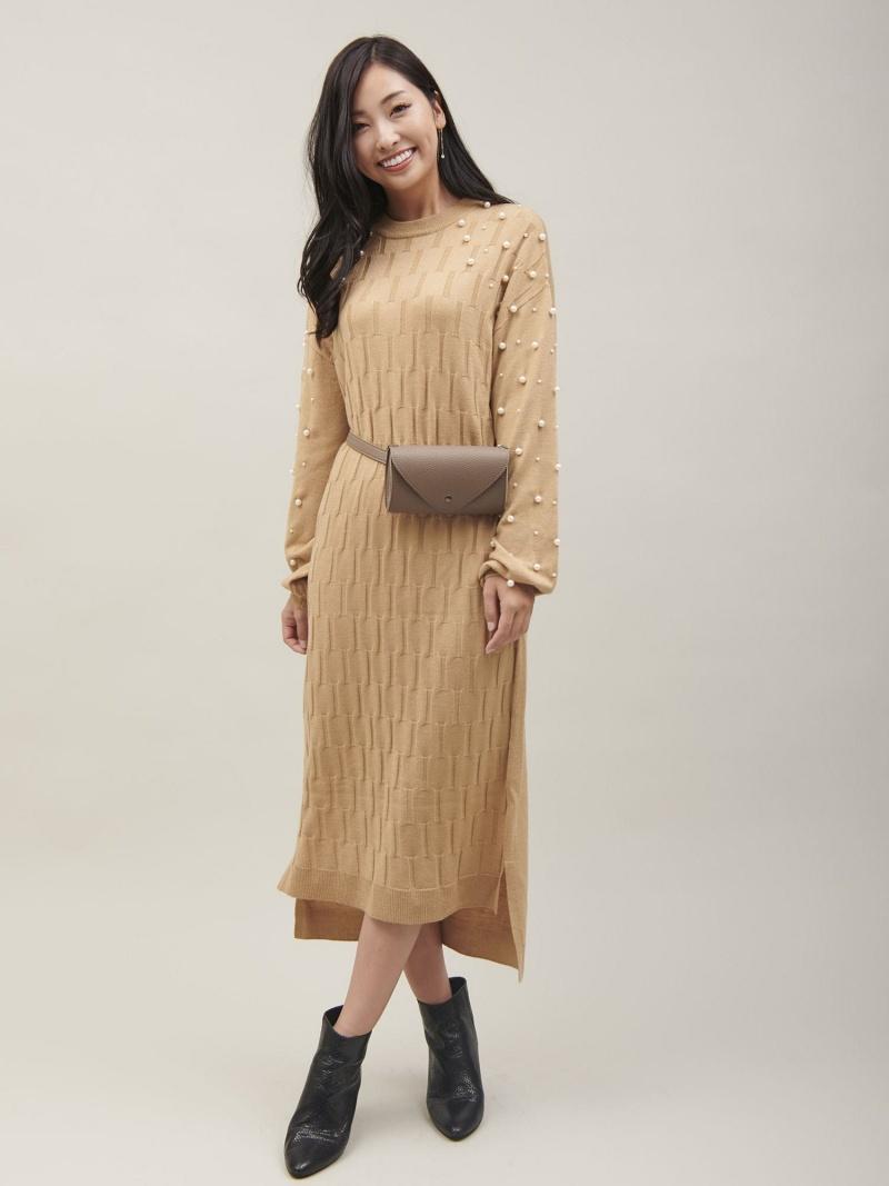 [Rakuten BRAND AVENUE]パールスリーブニットワンピース[DRESS/ドレス] Million Carats ミリオンカラッツ ワンピース【送料無料】