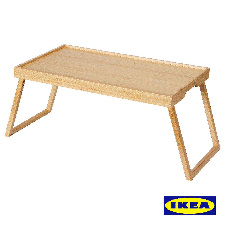 ベッドトレイの脚をたたんで収納できるので場所をとりません 持ち運びが簡単です 食卓:サービングウェア IKEA イケア RESGODS ※アウトレット品 レスゴドス:ベッドトレイ 引出物 キッチン ベッド 104.444.69 雑貨 寝室 竹