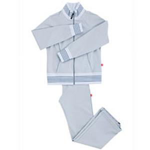 【即納】シェイプスーツ サーモゲティア女性用 トラックトップ ホワイト×グレイ◆送料・代引料無料◆