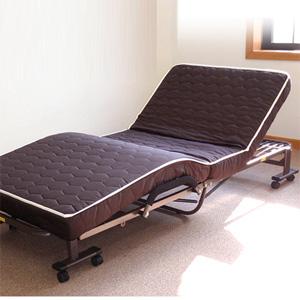 電動ダブルリクライニングベッド ◆送料無料◆ 【低反発ダブルリクライニング電動ベッド DE-90-T10 ブラウン】 収納式電動ベッド 介護用 電動ベッド 介助用 電動リクライニングベッド