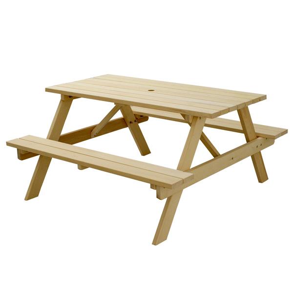 イエローシダーピクニックテーブル YCPT-1350NTU ◆送料無料◆[ガーデンテーブル ガーデニングテーブル ウッドテーブル 木製テーブル 4人掛け]