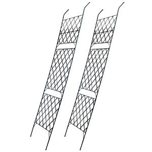 アイアンラティス ◆送料無料◆【アイアン製グリーンカーテン アーガイル 2枚組 IFGC011-2P-BLK】 目隠し アイアンフェンス ガーデンフェンス ガーデニングフェンス