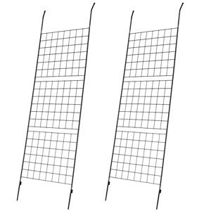 グリーンフェンス ◆送料無料◆【アイアン製グリーンカーテン グラフ 2枚組 IFGC014-2P-SLV】 グリーンラティス アイアンフェンス アイアンラティス 目隠し 遮光カーテン