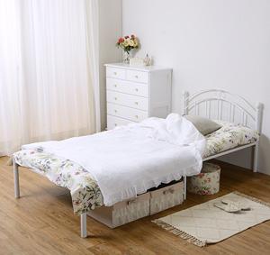 シングルベッド ホワイト KH-3089WH ◆送料無料◆[ベッドフレーム お姫様ベッド 姫系ベッド エレガント レディースベッド 女性用 シングルサイズ]