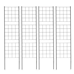 ガーデニングフェンス IF-GR025-4P】 ラティス グラフ ブラック ◆送料無料◆【アイアンフェンス スリム 高さ176 ガーデンフェンス 黒 トレリス 4枚組 スリムフェンス