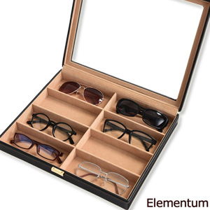 Elementum メガネケース 8本用 240-452 の 通販 【送料無料】 [眼鏡 ディスプレイケース 8本収納 サングラス 眼鏡コレクション 収納ボックス 高級感 コレクションケース]