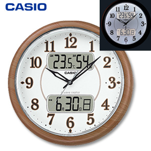 【即納】カシオ フルブライト夜見えライト付きクロック ITM-900FLJ-5JF の 通販 【送料無料・代引料無料】 [壁掛け時計 ライト付き 電波時計 時報 シンプル インテリアクロック]