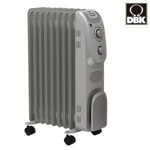 DBK オイルヒーター DRM1009GM の 通販 【送料無料】 [クリーン暖房 オイルヒーター キャスター付き オイルヒーター 1000W 空気を汚さない 静か 暖房機]