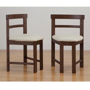 コンパクトチェア 2脚組 KV-142 の 通販 【送料無料】 [ダイニング用チェアセット 木製ダイニングチェア シンプル 食卓椅子 2個セット おしゃれ 食卓イス 肘なし ダイニング椅子]