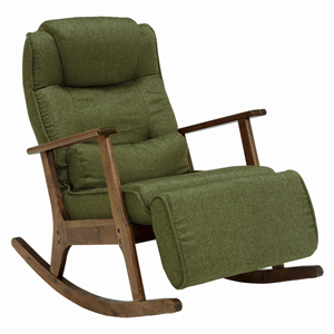 9月中旬入荷予定/揺れるリラックスチェア【送料無料】【ロッキングチェア LZ-4729】オットマン付き リラックスチェアー オットマン ロッキング椅子 木製 おしゃれ