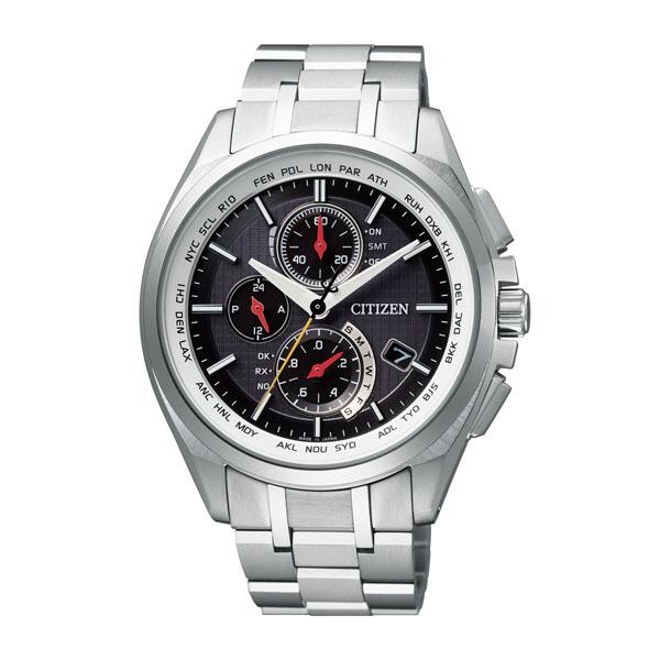 【7年保証】 シチズン アテッサ メンズ エコドライブ 電波 腕時計 【AT8040-57F】 サンウルブズコラボレーションモデル