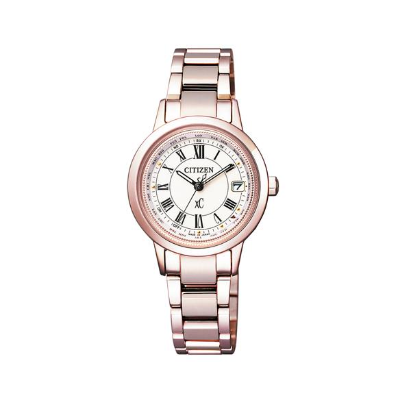 【7年保証】シチズン クロスシー サクラピンクレディース 女性用  エコ・ドライブ電波腕時計【EC1144-51W】 (国内正規品)