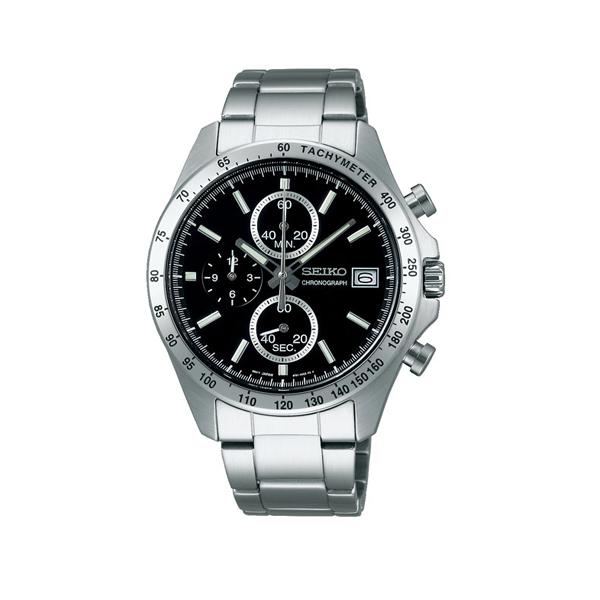 【7年保証】  正規セイコースピリット クロノグラフ SEIKO SPIRIT メンズ 男性用腕時計 文字盤ブラック SBTR005