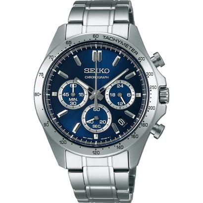 【7年保証】 正規セイコースピリット クロノグラフ SEIKO SPIRIT メンズ 男性用腕時計 文字盤ネイビー 品番:SBTR011