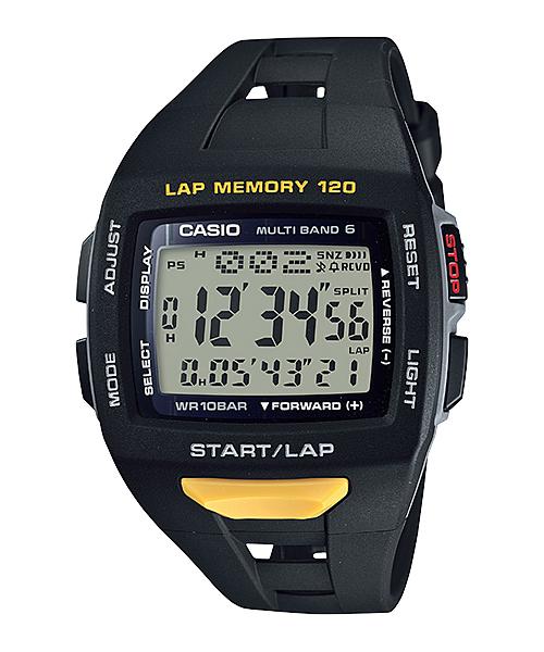 カシオ PHYS メンズソーラー電波腕時計【STW-1000-1JF】(正規品) ソーラー電波時計のランナー用モデル【02P03Dec16】