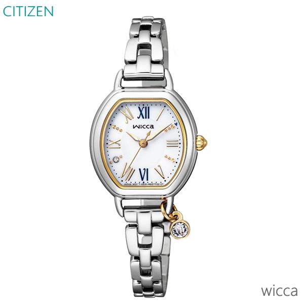 レディース 腕時計 7年保証 送料無料 シチズン ウィッカ ソーラー KP2-515-13 正規品 CITIZEN wicca