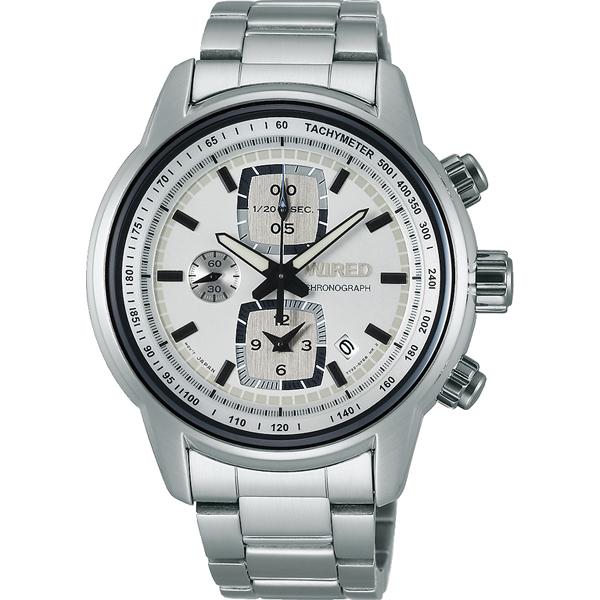 【7年保証】 セイコーメンズ 男性用ワイアード クロノグラフ腕時計 AGAV114 国内正規品