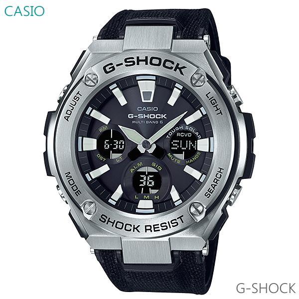 メンズ 腕時計 CASIO G-SHOCK G-STEEL ソーラー 電波 GST-W130C-1AJF 正規品 ミリタリーテイスト