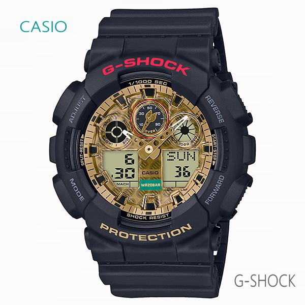 メンズ 腕時計 7年保証 カシオ G-SHOCK MANEKINEKO GA-100TMN-1AJR 正規品 CASIO 招き猫 BlackEyePatch