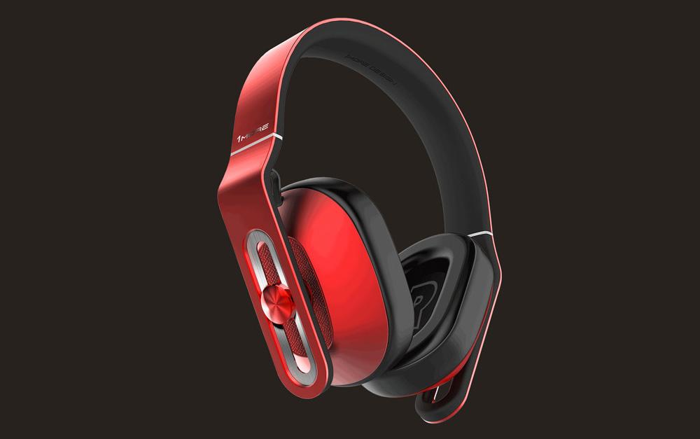 ヘッドホン イヤフォン/ヘッドフォン/イヤホン【10P03Dec16】【smtb-u】【送料込み】 Over-Ear 【送料無料】1MORE MK801RD レッド